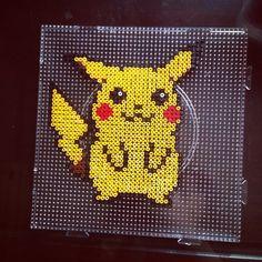 Pikachu Pokemon perler beads by dorothy_wow