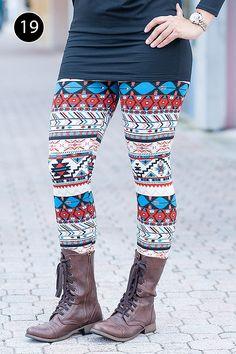 GroopDealz   Woman's Print Leggings - 9 Styles! #groodealz #printedleggings