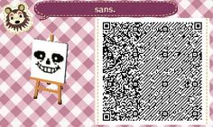 UnderTale QR codes for ACNL/HHD!