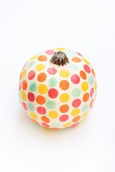 DIY Confetti Pumpkin