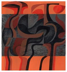 Peter Green OBE 'Fire Phantoms' woodcut and stencil print https://www.stjudesprints.co.uk/collections/peter-green