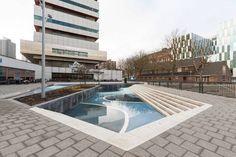 Waterplein Benthemplein, by De Urbanisten, in Rotterdam, Netherlands.