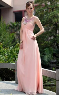 Gab in Pink Bridesmaid Dress With Jewelled Neck - $528.00. http://www.youngrepublic.com/women/bridal/gab-in-pink-bridesmaid-dress-with-jewelled-neck.html