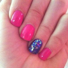 Shellac!.. I've been doing the one nail thing since before the one thing nail was cool....