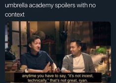 this is just a place for me to dump my umbrella academy memes, becaus… Hunger Games, Funny Umbrella, Robert Sheehan, Dysfunctional Family, Under My Umbrella, Daddy Issues, Great Friends, Luther, Academia