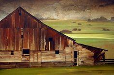 "2010, Crow Mountain Mist by Joseph Alleman Oil ~ 24"" x 36"""