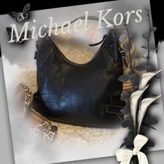 "⚡️FLASH SALE 1 ONLY⚡️ Michael Kors Shoulder Bag Practically new Michael Kors black pebbles leather shoulder bag.  1 1/4"" wide shoulder strap won't cut in to your shoulder.  All shiny silver hardware.  Black MK logo cloth interior.  drop is 11"" Michael Kors Bags Shoulder Bags"