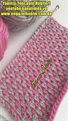 Crochet Cable Stitch, Tunisian Crochet, Baby Knitting Patterns, Crochet Hats, Fashion, Tutorial Crochet, Crochet Stitches, Purses, Crocheting