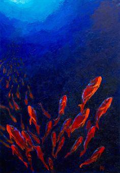 """Anna Vinokurova; Oil, 2012, Painting """"Towards The Light"""""""