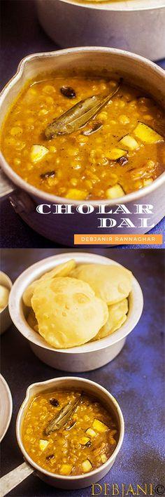Bengali Cholar Dal aka Narkel Diye Cholar Dal is a no onion no garlic rich delicacy prepared with Bengal gram Healthy Soup Recipes, Curry Recipes, Healthy Cooking, Vegetarian Recipes, Garlic Recipes, Bangladeshi Food, Bengali Food, Slow Cooker Recipes, Cooking Recipes