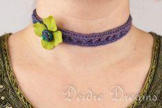 - SOLD - Hippie Crochet Owl Choker  Polymer Clay Owl by DeidreDreams, $40.00