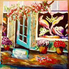 """Nancy Stringer-Sager Painted """"THE HAT SHOP"""" as part of our European Village"""" Series .  Lovely"""
