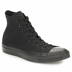 All stars monocrome Converse All Star, Converse Chuck Taylor All Star, Converse Shoes, Chuck Taylors, Hub Footwear, All Black Sneakers, High Top Sneakers, Basket Mode, Color Negra