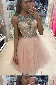 Custom Made Fetching Sequin Prom Dresses, Cute Prom Dresses, Pink Prom Dresses, Prom Dresses Short Junior Homecoming Dresses, Prom Dresses For Teens, Cute Prom Dresses, Pretty Dresses, Sexy Dresses, Beautiful Dresses, Dress Prom, Pink Dresses, Tulle Dress