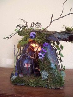 fairy home. I love the light on inside this one.