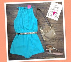 Look chic on a day out in this romper 😊  Romper $55 Belt $24 Hammitt Tony $165 Dolce Vita Kendra $68 (sale)  ☎️210-824-9988