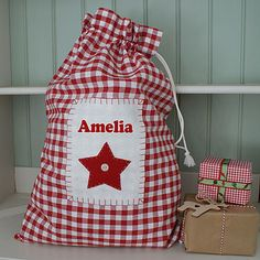 Be inspired by our magical array of Christmas decorations and fill every room with personalised stockings, one-of-a-kind trees and majestic on-trend lights. Christmas Bunting, Christmas Sewing, Christmas Bags, Babies First Christmas, Christmas Wrapping, Christmas Decorations To Make, Christmas Projects, Vintage Christmas, Christmas Stockings