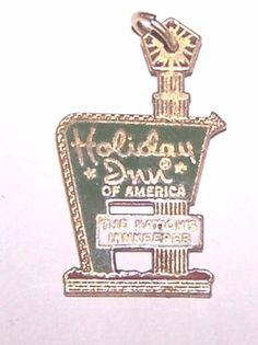 Vintage RARE Enamel Holiday Inn Hotel Sterling Charm Advertisement 2 1 G | eBay
