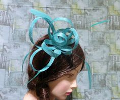 Check out this item in my Etsy shop https://www.etsy.com/ca/listing/256342022/mint-green-aqua-fascinator-hat-sinaymay
