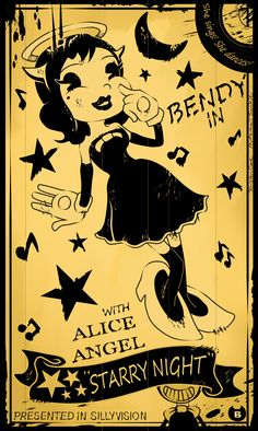 My second artwork for Bendy and The Ink Machine - Alice Angel! Entered for the Chapter 2 contest!