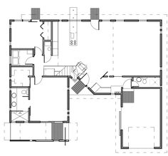 I love the integration of the entertainment/garage/covered porch space. (2 more bedrooms and a roof terrace upstairs.)