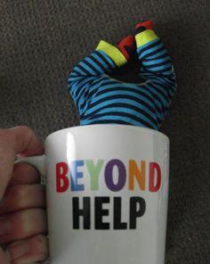 Beyond Help Baby Mugging Silly Me, Drink Sleeves, Create Yourself, Mugs, Tableware, Times, Bebe, Dinnerware, Tumblers