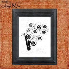 PRINTED Wall Decor ~ Saxophone Swirls ~ Sax ~ Marching Band ~ Band Print ~ High School Band ~ Band Humor ~ Band Geek ~ Print  AVAILABLE AS A