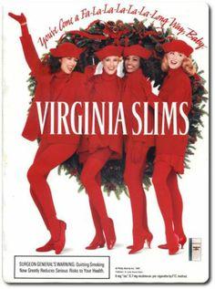Virginia Slims Print Ad 1991 Vintage Holidays RARE Christmas Cigarettes   eBay