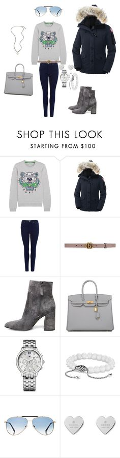 """""""Unbenannt #75"""" by sabrinaahz ❤ liked on Polyvore featuring Kenzo, Canada Goose, Barbour, Gucci, Steve Madden, Hermès, Tommy Hilfiger, David Yurman and Tom Ford"""