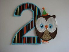 Iron on applique Owl with birthday hat by EmbellishmentJunkies, $4.00