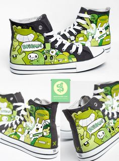 Green Planet Shoes by =Bobsmade on deviantART