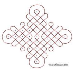 Kambi Kolam 130---step by step design