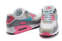 Nike Air Max 90 WoMen White Grey Pink hot sale 211-bethe shop