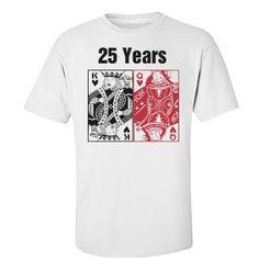d65ccc3b 25th anniversary. 25th Wedding AnniversaryAnniversary PartiesCustom Tee  ShirtsBirthday Parties