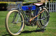 1912 Black Hawk BH Antique Motorcycle