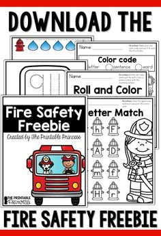 Kids Safety Looking for fire safety activities and centers for Kindergarten? Click through to see great books ideas, a cute little fireman craft Fire Safety Crafts, Fire Safety Week, Preschool Fire Safety, Fireman Crafts, Fire Prevention Week, Kindergarten Activities, Preschool Classroom, Preschool Learning, Kindergarten Assessment