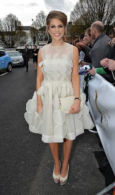 amy huberman dress - Google Search Girls Dresses, Flower Girl Dresses, Pure White, Red Carpet, Amy, Actresses, Pure Products, Wedding Dresses, Stuff To Buy