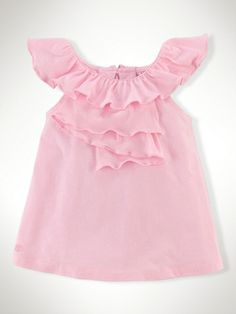 Cascade Ruffled Cotton Top - Infant Girls Tops - RalphLauren.com