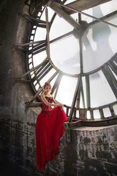 Zoe at the Borox Clock Tower, Baltimore