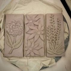 #ceramics #clay #flowers #bassrelief #carving