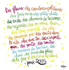 Wreck This Journal, French Words, Happy New Year, Bullet Journal, Messages, Thoughts, Sayings, Max 2015, Illustrations