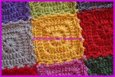 Beautiful design, easy to make granny squares...Bello diseño, en cuadros fácil de confeccionar!