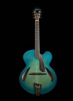 "D'Aquisto Blue Centaur... Built for Scott Chinery's ""Blue Guitar"" project."
