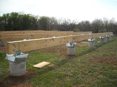 Built-up Beams in Place for Pier and Beam Foundation