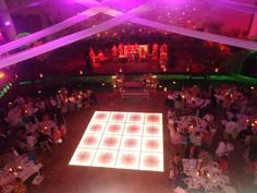 Aerial sight led dance floor, any size, any type, we got it. Visit us at www.mx for more info Jwd Events Led Dance, Perfect Wedding, Wedding Reception, Destination Weddings, Cancun, Floor, Events, Type, Wedding Reception Venues