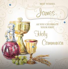 Personalized Greeting Cards, First Holy Communion, Holi, Place Cards, Place Card Holders, Holi Celebration, First Communion