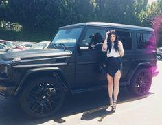 Kylie Jenner's matte black Mercedes G-Wagon #LOVE