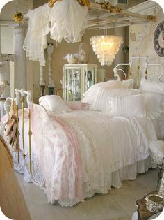 love the bedding Cleaver canopy above the bed.
