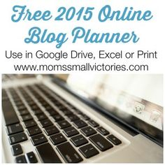 Free 2015 Online Blog Planner