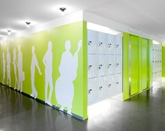 hallway and lockers